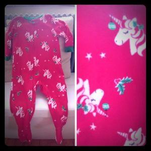 Christmas Footed Pajamas Unicorn Ornament Star 18M